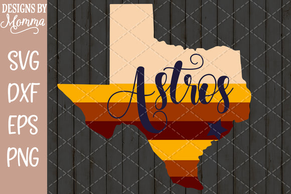 Astros Texas Stripes SVG DXF EPS PNG