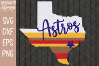 Astros Texas Stripes 2 SVG DXF EPS PNG