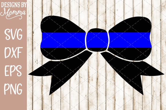 Blue Line Hair Bow SVG DXF EPS PNG