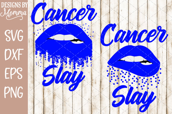 Cancer Slay Lips Scatter Dots SVG DXF EPS PNG