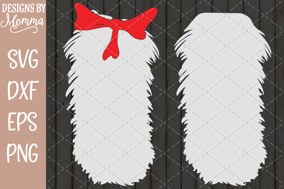 Cat Hat Fur Belly Stomach Bow Bowtie SVG DXF EPS PNG
