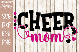 Cheer Mom Dots SVG DXF EPS PNG