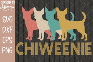 Chiweenie Retro SVG DXF EPS PNG