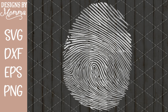 Cross Fingerprint SVG DXF EPS PNG