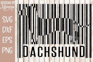 Dachshund Barcode SVG DXF EPS PNG