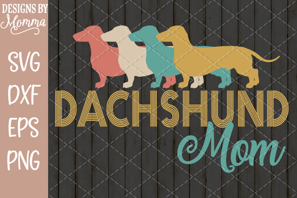 Dachshund Mom Retro SVG DXF EPS PNG
