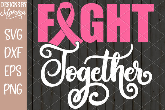 Fight Together Awareness Ribbon SVG DXF EPS PNG