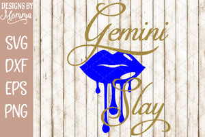 Gemini Slay Dripping Lips SVG DXF EPS PNG