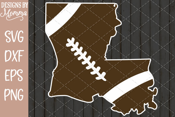 Louisiana Shape Football SVG DXF EPS PNG