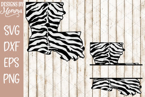 Louisiana Tiger Striped plus Split for name SVG DXF EPS PNG
