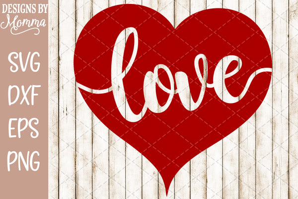 Love Heart Cutout SVG DXF EPS PNG