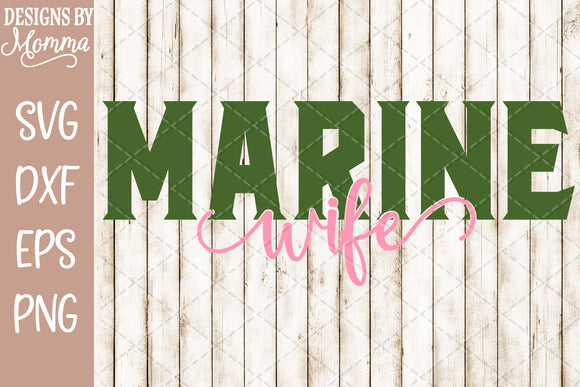 Marine Wife SVG DXF EPS PNG