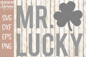 Mr Lucky Clover SVG DXF EPS PNG