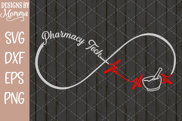 Pharmacy Tech Infinity SVG DXF EPS PNG
