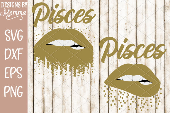 Pisces Lips Scatter Dots SVG DXF EPS PNG