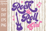 Rock and Roll Rock n Roll Girl Guitar SVG DXF EPS PNG