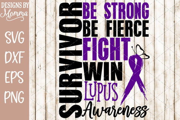 Survivor Lupus Awareness SVG DXF EPS PNG