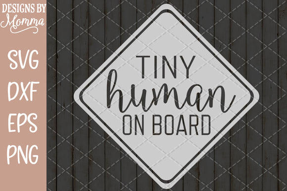 Tiny Human on Board SVG DXF EPS PNG