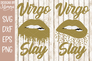 Virgo Slay Lips Scatter Dots SVG DXF EPS PNG