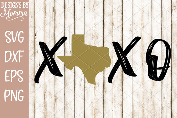 XOXO Texas SVG DXF EPS PNG