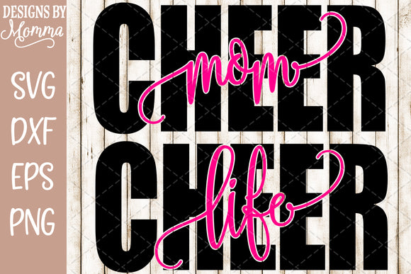 Cheer Life and Cheer Mom Word SVG DXF EPS PNG