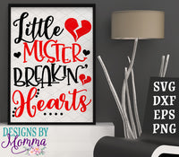 Little Mister Breakin' Hearts SVG DXF EPS PNG