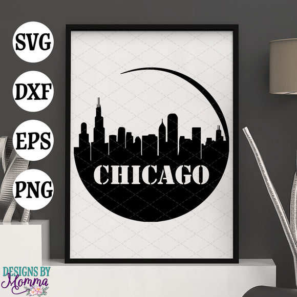 Chicago Skyline SVG DXF EPS PNG
