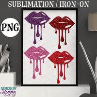 Dripping Lips Single SVG DXF EPS PNG