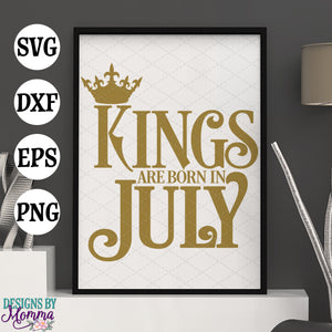 Kings are born in July SVG DXF EPS PNG