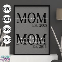Custom MOM with childrens names and year SVG DXF EPS PNG