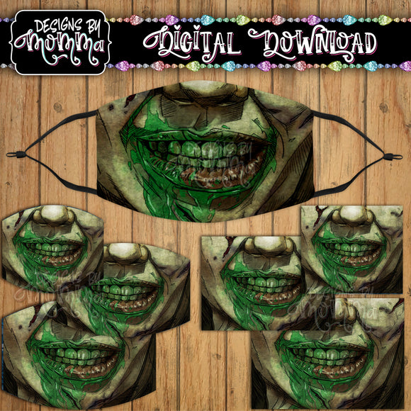 Exorcist Mouth Face Cover Mask PNG Sublimation Design