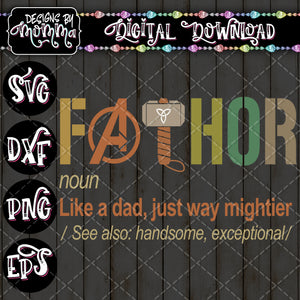 FATHOR SVG DXF EPS PNG