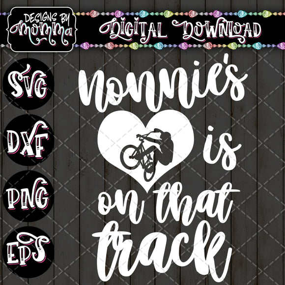 Nonnie's Heart is on that Track SVG DXF EPS PNG