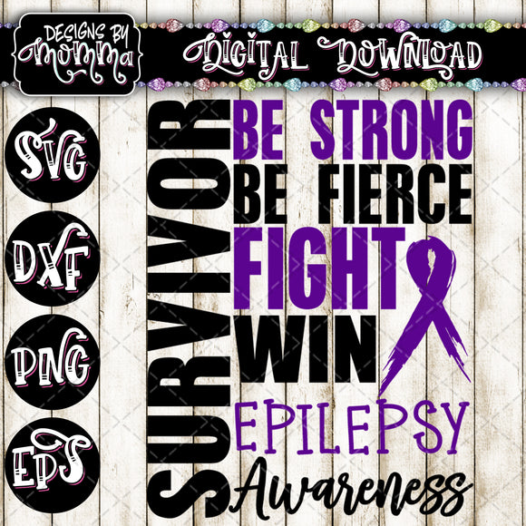 Survivor Epilepsy Awareness SVG DXF EPS PNG