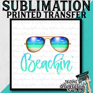 Beachin' Summer Glasses Sublimation Printed Transfer