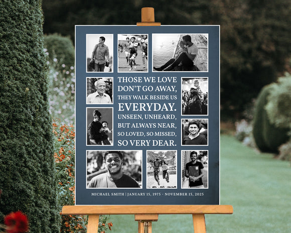 FUNERAL POSTER - THOSE WE LOVE DON'T GO AWAY, CL31