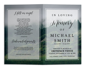 Funeral Program Template - Nature Mountain Forest, TM14