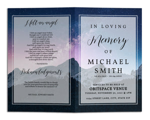 Funeral Program Template - Stars Galaxy Cosmos, TM15