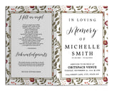 Funeral Program Template - Floral Foliage Flowers, TM18