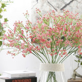 Pink Baby's Breath Bunches Foilage Dried Herbs Artificial Plant Simulation Fake Herbal Planter Pots by Arcane Trail