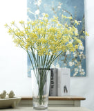 Yellow Baby's Breath Bunches Foilage Dried Herbs Artificial Plant Simulation Fake Herbal Planter Pots by Arcane Trail