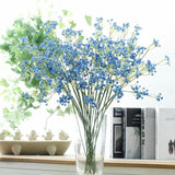 Blue Baby's Breath Bunches Foilage Dried Herbs Artificial Plant Simulation Fake Herbal Planter Pots by Arcane Trail