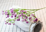 Purple Baby's Breath Bunches Foilage Dried Herbs Artificial Plant Simulation Fake Herbal Planter Pots by Arcane Trail