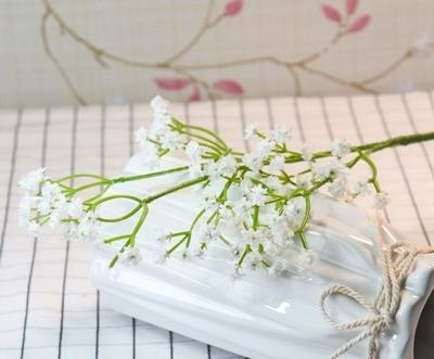 White Baby's Breath Bunches Foilage Dried Herbs Artificial Plant Simulation Fake Herbal Planter Pots by Arcane Trail