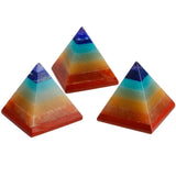 Rainbow Chakra Crystal Pyramid Reiki Energy Healing Work Spiritual Meditation Natural Stone Sacred Geometry by Arcane Trail