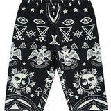 Dark Symbolic Leggings Pants Occult Satanism Gothic Fashion by Arcane Trail