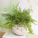 Green Artificial Fern Plant Leaves Bunches Simulated Fake Trees Planters by Arcane Trail