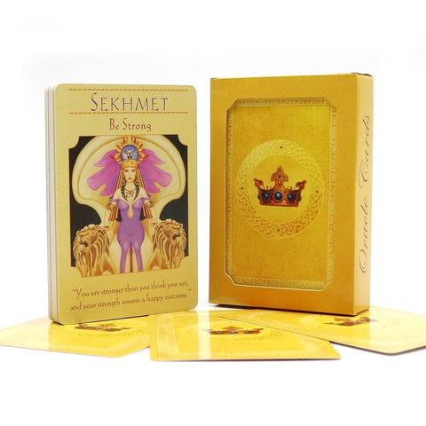 Gold Goddess Deity Tarot Card Deck Oracle Cards For Psychic Spiritual Pagan Witches and Witchcraft Divination by Arcane Trail