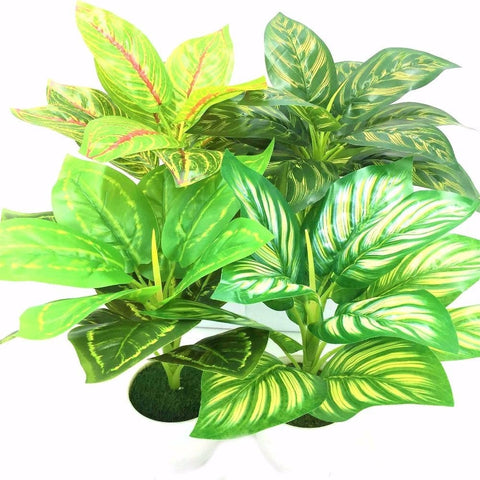 Green Artificial Fern Leaf Plant Leaves Bunches Simulated Fake Trees Planters by Arcane Trail