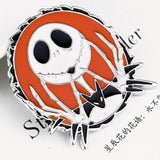 Jack Skellington Nightmare Before Christmas Enamel Pin Lapel Brooch Sally Skellington Love Halloween Creepy Cute Goth by Arcane Trail